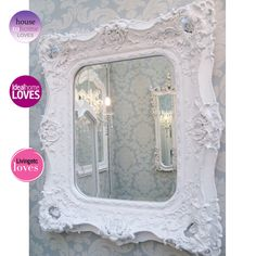 Genevieve White Mirror by The French Bedroom Company