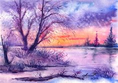 Frosty magic of evening. by AnnaArmona.deviantart.com on @deviantART