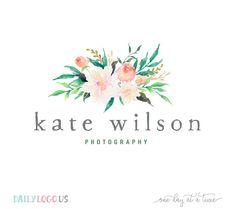 Watercolor Floral Bouquet Logo Design creative branding photography logo design branding