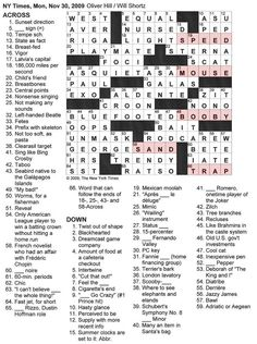 #21 Solve a New York Times Crossword Puzzle