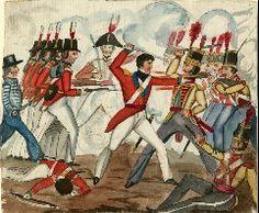 BRITISH SAILOR AND MARINES IN COMBAT, C. 1812  1812