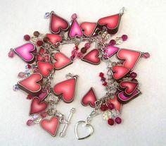 clay cane heart bracelet