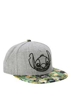 4db28a12b8a Disney Lilo   Stitch Grey   Floral Snapback Hat