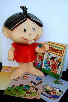"""A famous Brazilian cartoon character called """"Monica"""" -I used to have this plastic doll."""