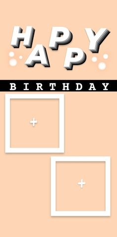Happy Birthday Template, Happy Birthday Frame, Happy Birthday Posters, Birthday Posts, Happy Birthday Images, Images Instagram, Book Instagram, Creative Instagram Photo Ideas, Instagram Story Ideas