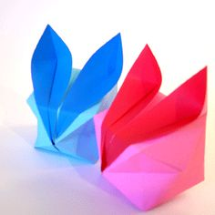Origami bunny- going to try it, wish me luck as spatial reasoning is not my thing. :-)