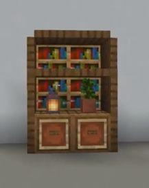 Minecraft Projects, Minecraft Designs, Minecraft Stuff, Minecraft Ideas, Minecraft Furniture, Minecraft Houses, Bookshelves, Bookcase, Craft Shelves