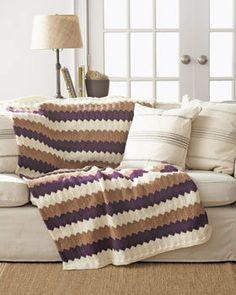 Free Knitting Pattern - Women's Jackets & Outerwear: Chevron Blanket