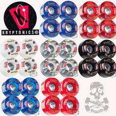 Kryptonics cruise skateboard wheels 62mm, 78a #assorted colour #combos #kryptonic,  View more on the LINK: 	http://www.zeppy.io/product/gb/2/221319054115/