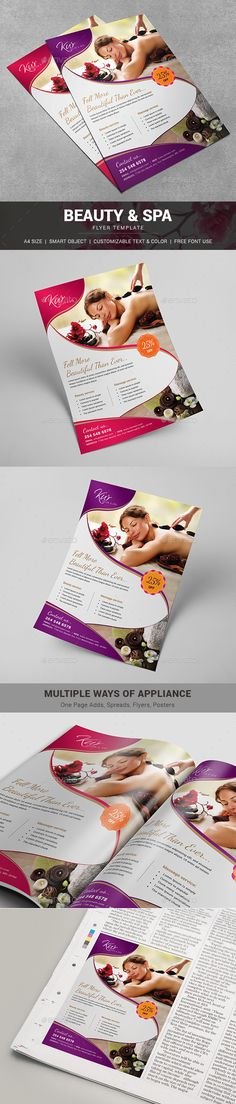 Spa Flyer / Beauty Flyer — Photoshop PSD #body message #women