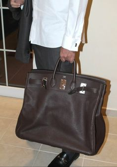 Hermès HAC Haut à Courroies Birkin 50cm in Brown Clemence Leather w PHW - Rare
