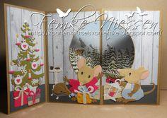 Made by Femke Niessen: Snowglobe Christmas Card.