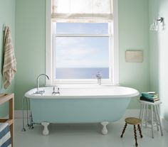 BenjaminMoore Palladian Blue HC-144 with Aura Bath & Spa, matte finish (walls).