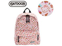 Hello Kitty x OUTDOOR Backpack Daypack Leopard Pink S Size SANRIO