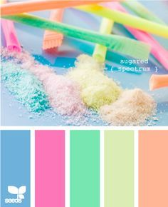 Sherbet colors for Lyla's room. Oh this is going to be soooo much fun!