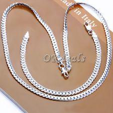 "5MM 925 Argent Sterling Massif Collier Chaîne 20"" pouce Mode Homme Femme"