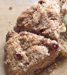 Whole Grain Cranberry-Apple Scones - Bon Appétit