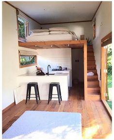 Tiny House Stairs, Tiny House Living, Tiny House Plans, Best Tiny House, Interior Stairs, Home Interior Design, Kitchen Interior, Exterior Design, Interior Ideas