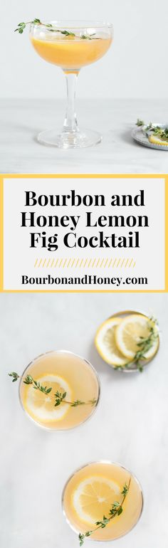 Bourbon and Honey Lemon Fig Cocktail | BourbonandHoney.com -- Slightly sweet, lemony fresh and perfectly boozy this Bourbon and Honey Lemon Fig Cocktail is a great drink recipe for a last minute happy hour! #Recipe #Video #Cocktail #Bourbon #Honey #Fig #HappyHour  http://www.bourbonandhoney.com/bourbon-and-honey-lemon-fig-cocktail/