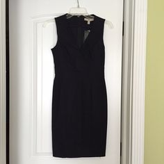 Black Sloan dress by BR Perfect LBD for a sleek and chic look. This black Sloan Dress by Banana Republic is made of 60% cotton, 35% rayon, and 5% spandex, to hold its shape and flatter your figure. Dress hits at the knees. New with tags. Banana Republic Dresses Midi