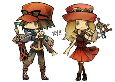 Calem and Serena from Pokemon X and Y