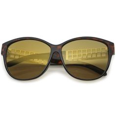 d1fa0cfa90ae zeroUV Oversize Horn Rimmed Metal Temple Mirror Square Lens Cat Eye  Sunglasses 62mm TortoiseGold   Gold