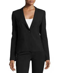 Alma One-Button Jacket, Black by Elie Tahari at Neiman Marcus.