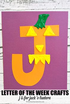 Celebrate Halloween with this Letter of the Week craft! Read some Halloween books and then make this letter J letter of the week craft! J is for Jack-o-Lantern!