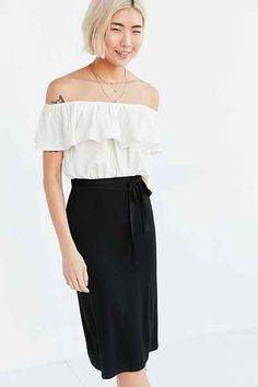 Dress noon knit with tie waist Tally Silence + Noise