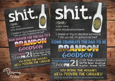 Funny Beer Diaper Shower Invitation - Beer and Diapers- Huggies and Chuggies - Diaper Party for Men on Etsy, $20.00