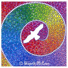 Healing Magic from the Flight of the Eagle by Elspeth McLean #eagle #rainbow #spiral