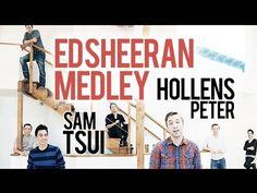 The Ed Sheeran Mega Medley - Sam Tsui and Peter Hollens - YouTube