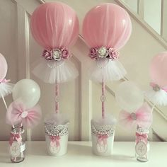 #tulleballoons #prettypink #birthdayballoons #4thbirthday #flowers #pearls #tullecute #tullecuteballoons