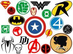 Superheroes SVG Superhero eps Superhero logo SVG by LucretiasSvg
