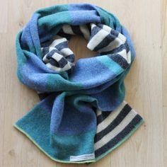 Marianne Østergaard Scarf/ sjaal blue, grey, petrol