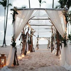 Crushing on this luxury beach vibe @valsweddings created. A Caribbean delight…