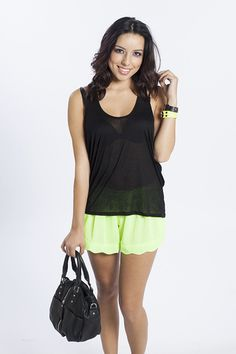 Make the neon really pop with TrendyBlendy's Crossover Spring Fling Tank in Black!  $12.60 http://www.trendyblendy.com/products/crossover-spring-fling-tank-black
