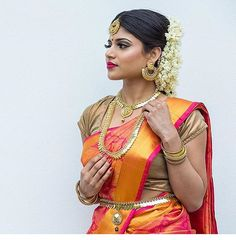 """270 likerklikk, 3 kommentarer – Tie • The • Thali (@tiethethali) på Instagram: """"What a flawless look! Especially loving the saree paired with a simple blouse. @tukhida    #Tamil…"""""""