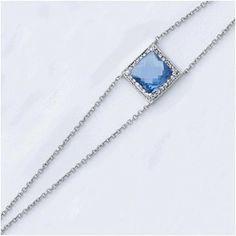 Bracelet arg tanzanite bleu + cz