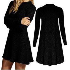 Winter Dress Long Sleeve Women Casual Sweater Dresses Ruffle Pleated Slim Oversize Knit Pullover Vestidos Plus Size Dresses