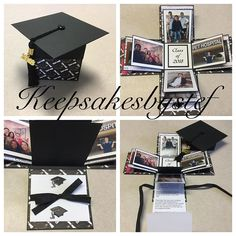 1 million+ Stunning Free Images to Use Anywhere Graduation Album, Diy Graduation Gifts, Graduation Photos, Photo Boxes, Pop Up Box Cards, Diy Gift Box, Exploding Boxes, Fancy Fold Cards, Grad Parties