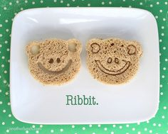 Ribbit frog face sandwiches by anotherlunch.com, via Flickr