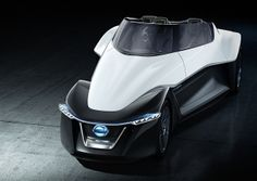 Photographs of the 2013 Nissan BladeGlider Concept. An image gallery of the 2013 Nissan BladeGlider Concept. Small Electric Cars, Electric Car Concept, Electric Sports Car, Nissan Electric Car, Electric Vehicle, Mini Car, E Mobility, Tokyo Motor Show, New Nissan