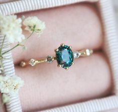 Oval Pastel Peach Sapphire Ring - Praise