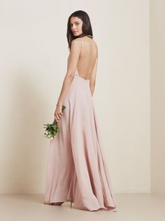 the perfect shade of dusty rose. @reformation Noelle Dress #babesmaids