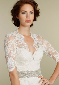 I'm in love with lace wedding dresses.