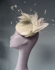 SEQUIN AND FEATHER COCKTAIL HAT by Jane Taylor