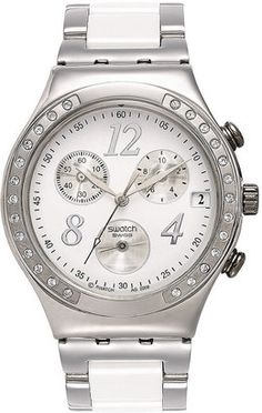 fb5c8905632 Swatch - Unisex Swiss Chronograph Dreamwhite Stainless Steel and White  Ceramic Bracelet  15Things  fashion