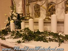 White Wedding Flowers Crooke Church Waterford. Rose, Calla, Freesia, Bouvadia Wedding Bouquet White Wedding Flowers, Church Wedding, Wedding Bouquets, Candles, Rose, Pink, Wedding Brooch Bouquets, Bridal Bouquets, Wedding Bouquet