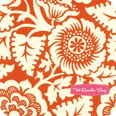 Heirloom Amber Blockade Blossom Yardage SKU# JD48-AMBER - Fat Quarter Shop